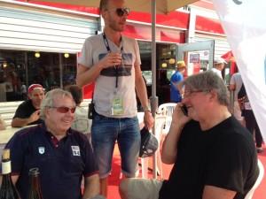Autre revenant, Eric Beugnot, qui, lui aussi brilla sous les couleurs du SCM Le Mans et de l'équipe de France de basket. Il participait avec Philippe Haquet aux 24 Heures Vélo organisées par Romain Gasnal, le fils de Claude.