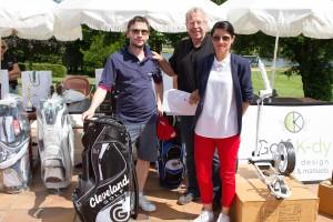 En 3e série net, première place pour Olivier Gazio qui a gagné un sac de golf offert Kazal Industrie