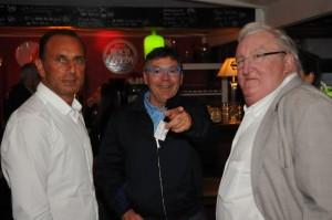 Retrouvailles entre sportifs : Jean-Marc Desrousseaux, Michel Der Zakarian et Jeff Breuil
