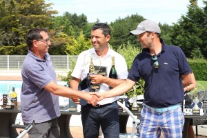Guillaume Michel, Jean-Wilfrid Forques, Bruno Grégoire, le tiercé vainqueur en 1re série net chez les journalistes.
