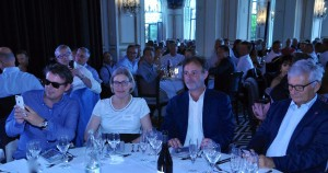 Yannick Le Bihan, directeur de Nexity Atlantique, avec Lydia Deturmeny, Philippe Joubin et X. de Zuchowitz.