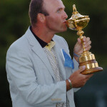 Thomas Levet, l'un des deux seuls Français avec Victor Dubuisson, à avoir remporté la Ryder Cup (c'était en 2004), notre photo, sera l'invité d'honneur du 10e National UJSF se Golf des Journalistes à La Baule.