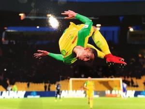Un salto du footballeur nantais Bammou, œuvre d'Eddy Lemaistre (Agence Icon Sport) qui lui vaut la 2e place du concours.