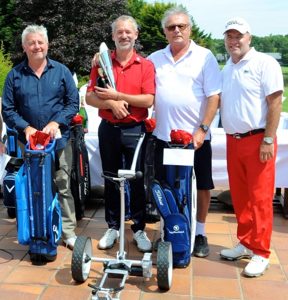 Le podium 1re série net. Aux côté de David Bordier, Thierry David et Didier Lapeyronie. Manque Damien Houlès (2e)