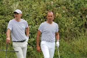 Michel Der Zakarian (ici avec Alain Roche) aurait-ill perdu une balle ?