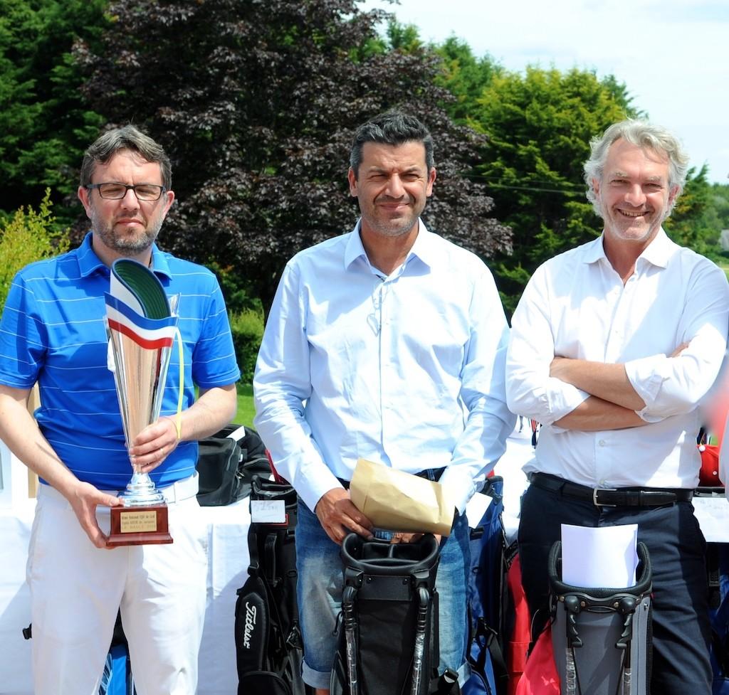 Le podium 1re série brut: De g. à d. Stéphane Boutet, Jean-Wilfrid Forquès et Damien Houles.