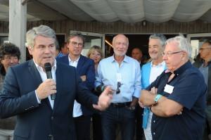 Franck Louvrier, maire de La Baule et vice-président de la Région des Pays de la Loire, lors de son intervention