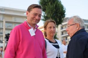 Laurent Garodo, directeur du resport Barrière La Baule, et son épouse.