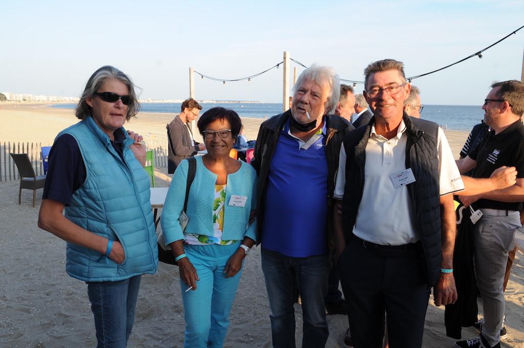 Philippe et Jacqueline Daniel (Vidalies) en compagnie du pro guérandais, Nicolas Gajan.